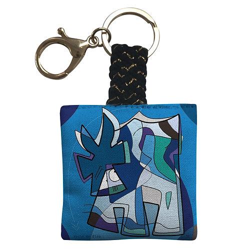 VanLuc porte-clés Vache de Bleu