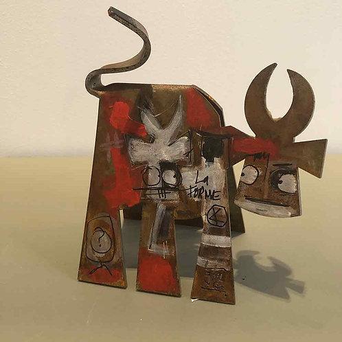 VanLuc Vache de Métal format S création 107
