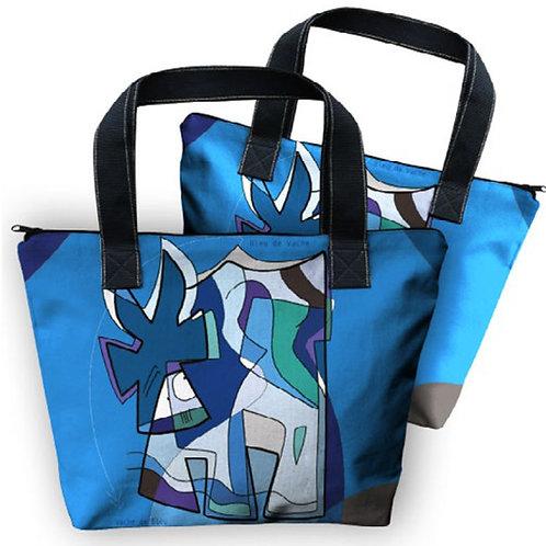 VanLuc sac Vache de Bleu