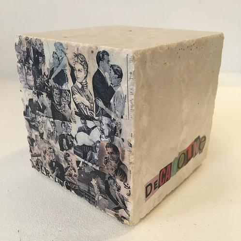 Decaroline Marbre presse-papiers Couple noir et blanc