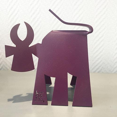 VanLuc Vache de Métal format S monochrome violet pourpre