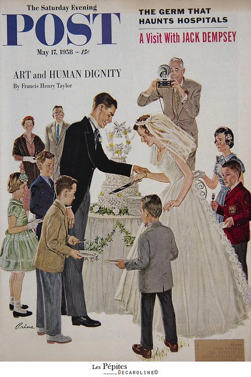 Decaroline illustration 50's sur métal - Art and human dignity