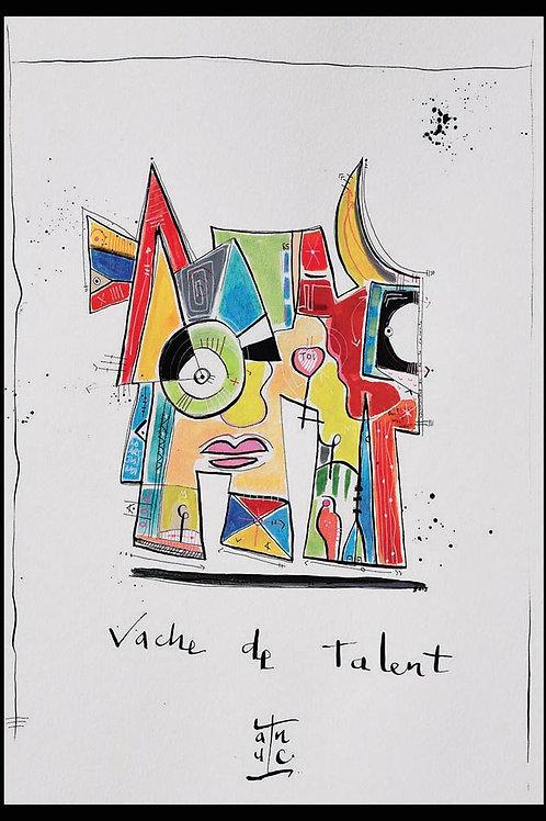 VanLuc Wall Art Vache de Talent