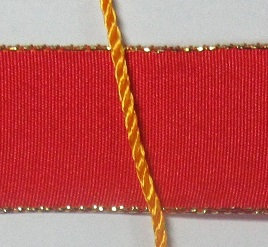 Red Ribbon and yellow orange cord for ANG project