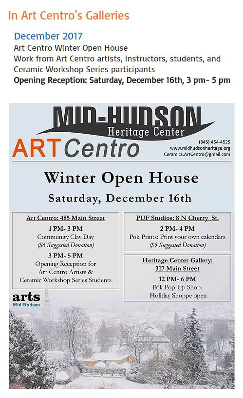 Details for Show at Art Centro Here