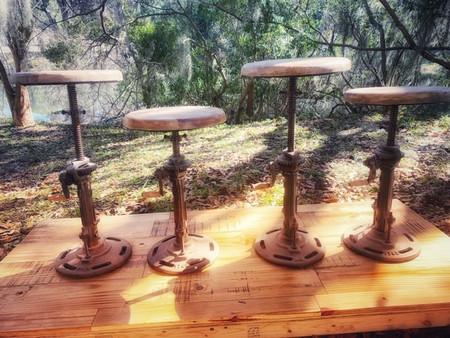 Vintage Crank Stools