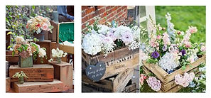 We can build rustic looking flower boxes and crates - just like these- using our reclaimed lumber collection.  Prices start at $8