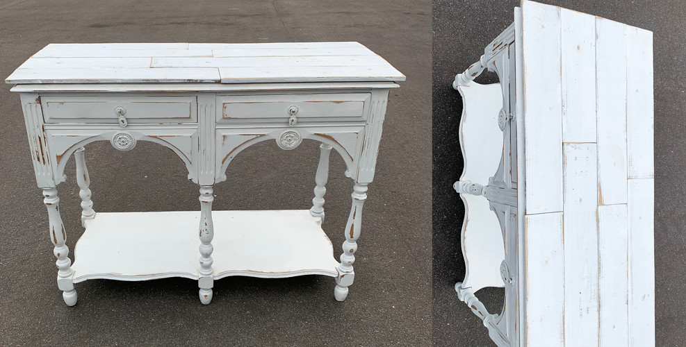 White Shabby Table