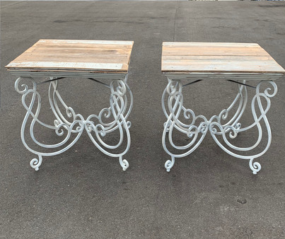 White Iron and Distressed Wood