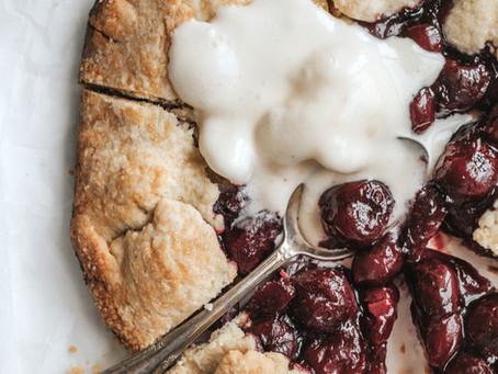 fresh sour cherry galette