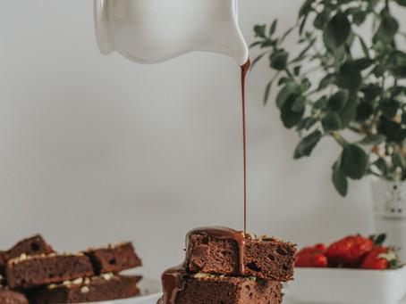 healthy chickpea brownies