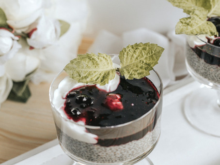 forest fruit chia pudding