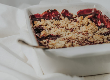 the most delicious raspberry crumble