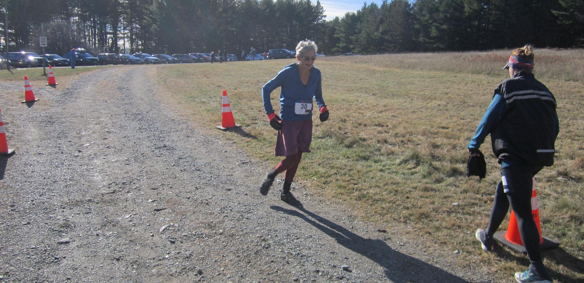 SunriseAC member - Donna, finishes 13.1 miles!