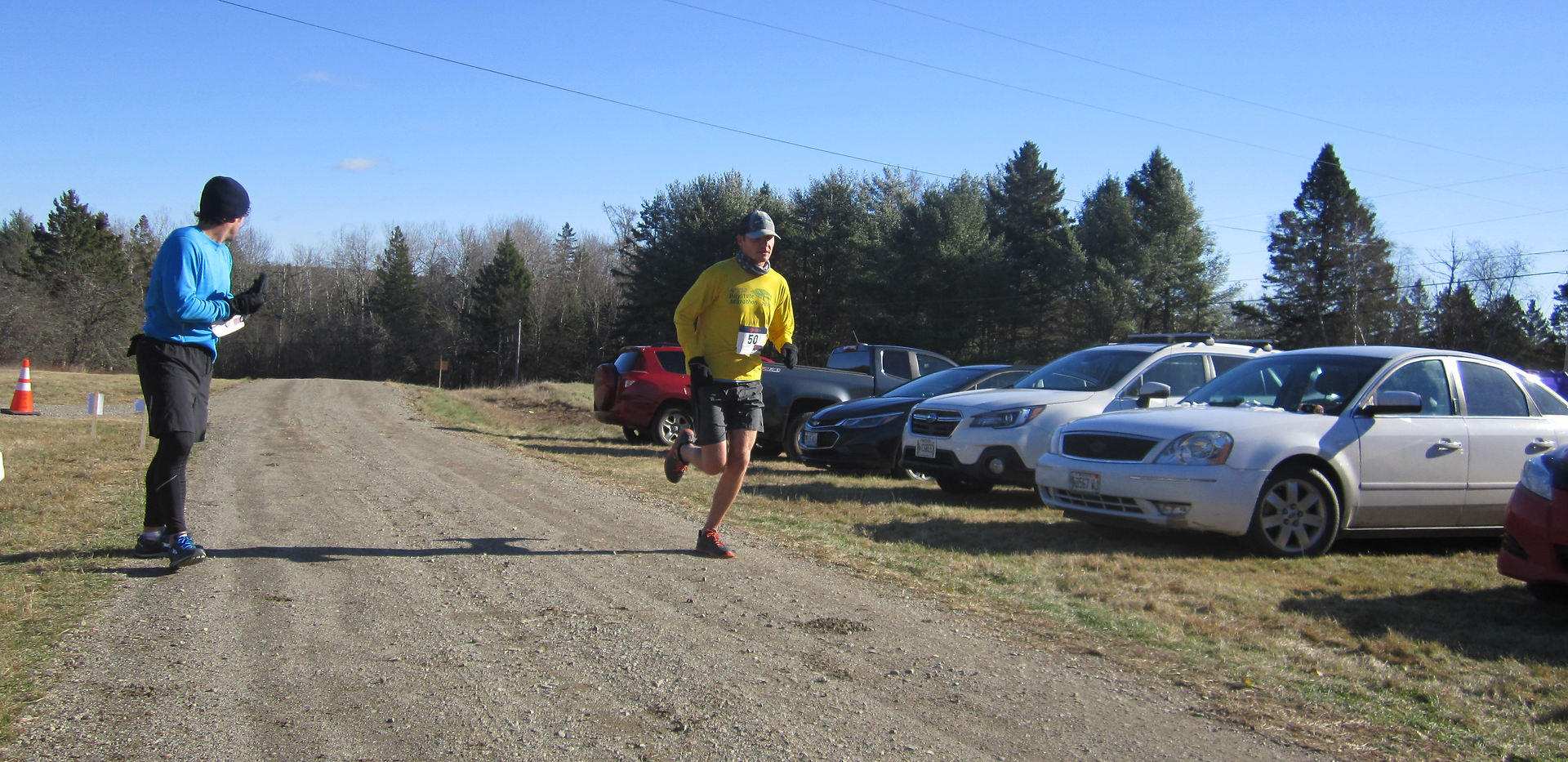 Mile 10, this runner just has 3.1 to go!
