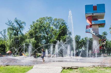 Fuente de agua danzante - Parque Las Tejas