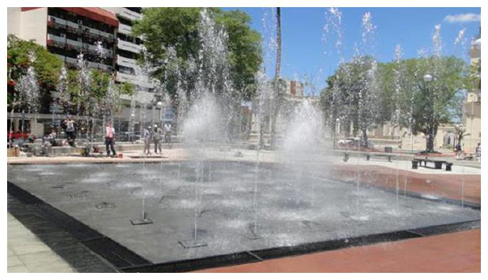 Aguas danzantes - Plaza Cabral
