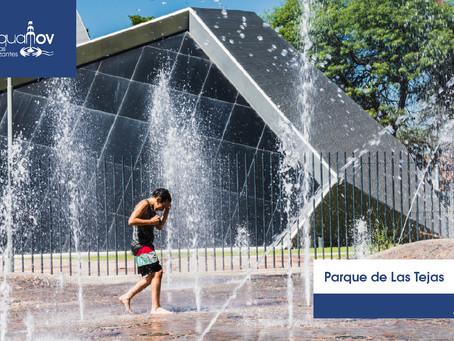 La fuente de agua elegida por los niños, un espacio de diversión y juego.