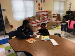 Mentoring Caleb and young boy