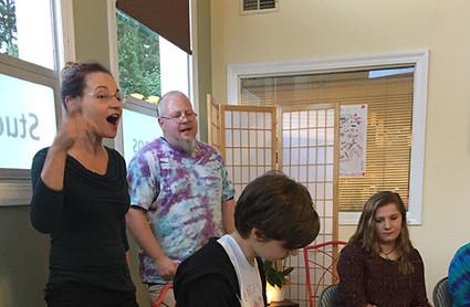 Lisa Wheeler, Joe Muharsky and Savanna Wheeler