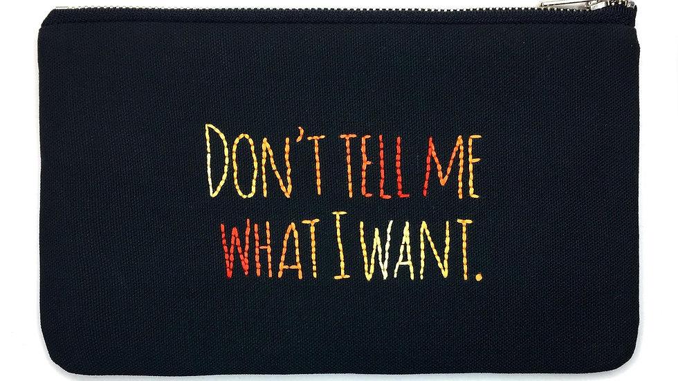 What I Want Lyric Bag
