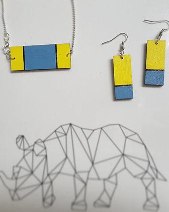 Collier jaune et bleu