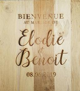 plaque décorative mariage lille