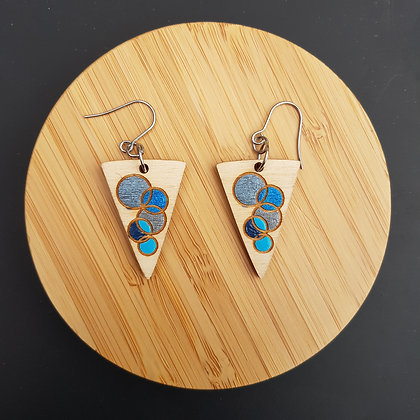"""Boucles """"All blue"""""""