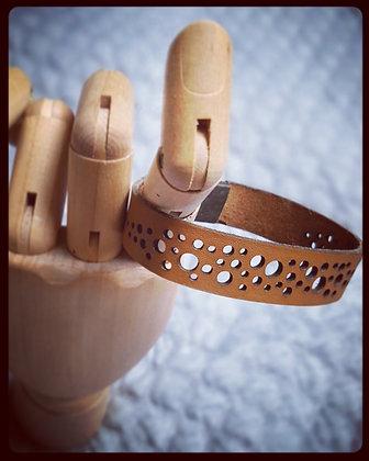 Bracelet cuir ajouré