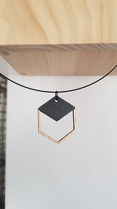 "Collier ""illusion cube"""