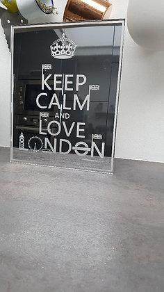 Déco de chambre London Miroir 35cm