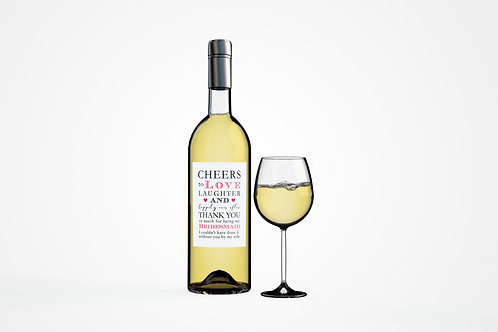 Thank you - Wine Bottle Labels
