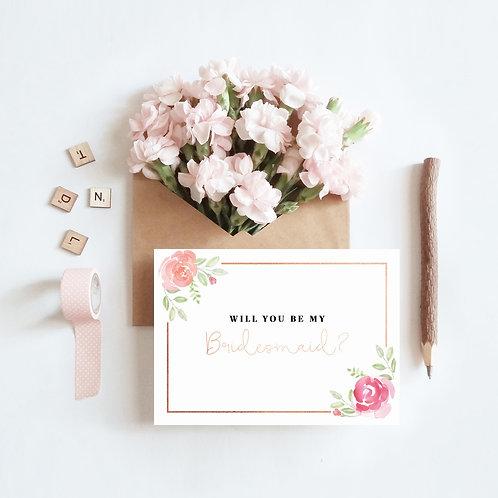 Will you be my bridesmaid? Bridesmaid Proposal Greeting Card