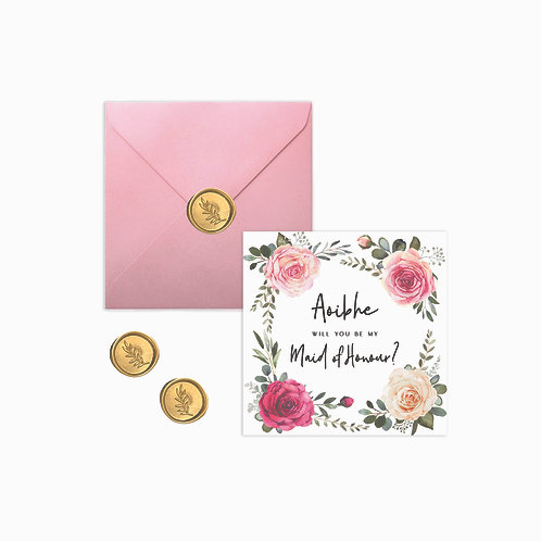 Personalised Floral Proposal Cards