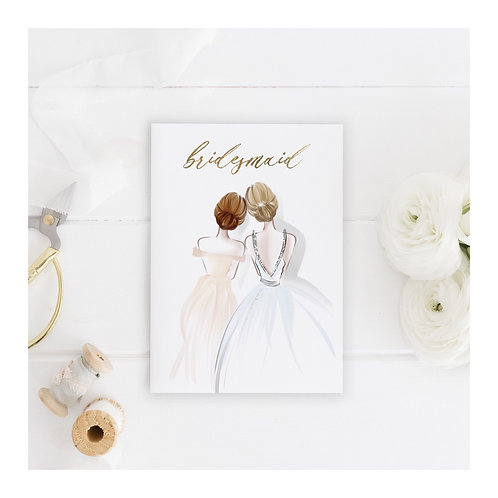 Bridesmaid and Maid of Honour Thank You Card