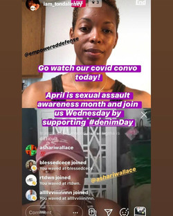 IG live during SAAm with Tonda Linsey