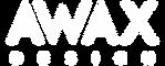 Awax design logo blanc
