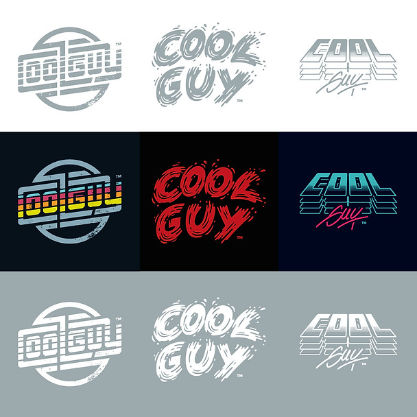 Logotype (typographique) Cool Guy
