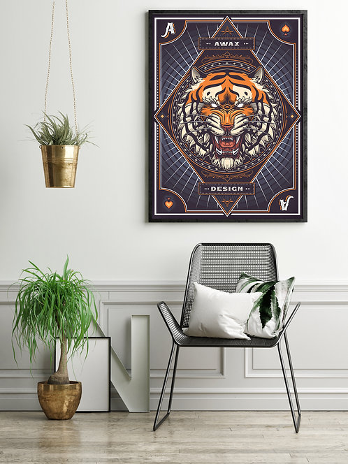 Tiger Head - Awax Design