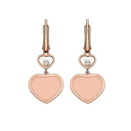 Chopard Happy Hearts Rose Gold Earrings 837482-5610