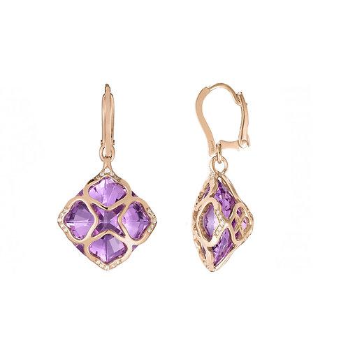 Chopard Imperiale Rose Gold Amethyst Earrings 839563-5001