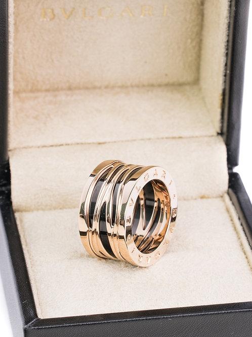 Bvlgari Rose Gold and Ceramic B.zero1 ring