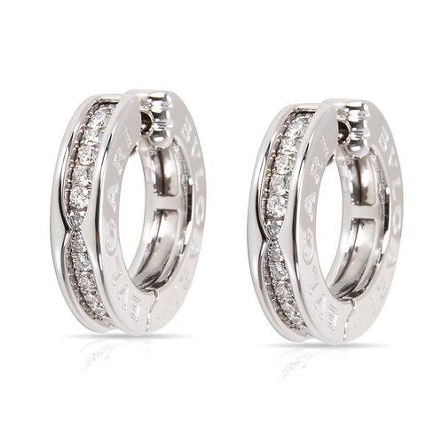 булгари б зеро сережки с бриллиантами белое золото ABJ24.com
