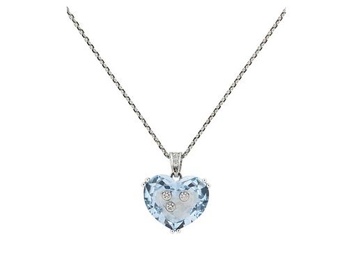 Chopard Happy Diamonds Blue Crystal Heart Necklace