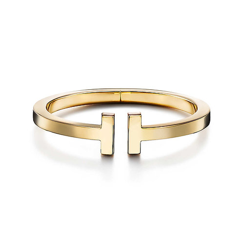 Tiffany T Square Bracelet in 18k Gold
