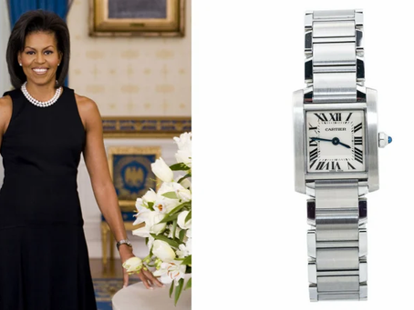 Iconic Cartier Tank Francaise watches.