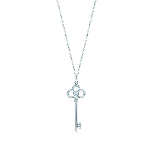 Tiffany&Co Crown Key Pendant+Chain