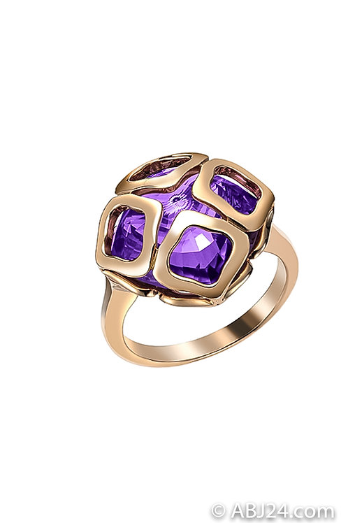 Chopard Imperiale Cocktail Rose Gold Amethyst Ring 829221-5039