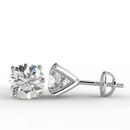 Diamond Stud Earrings 0.92Ct VS1/VS2 D