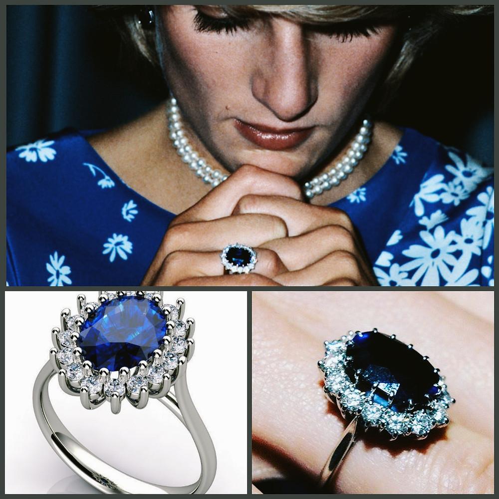 Princess Diana Ring Sapphire